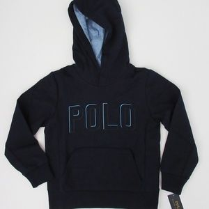 Ralph Lauren Boys POLO Logo Hooded Sweatshirt NEW